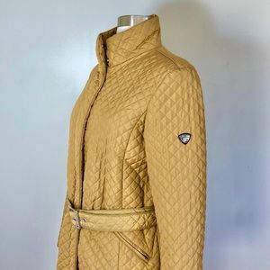 POST CARD Italy Quilted Belted Coat Size 6